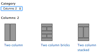 columns for panel layout