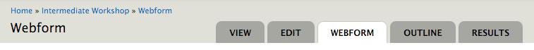 webform tab